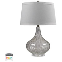 Bowery + Grove 50013-CL Declan 24 inch 60 watt Clear Table Lamp Portable Light in Dimmer Hue LED Philips Friends of Hue