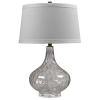 Bowery + Grove 54671-CC Declan 24 inch 150 watt Clear Table Lamp Portable Light in Incandescent 3-Way