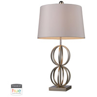 Bowery + Grove 53441-SLL Amigo Ave 29 inch 60 watt Silver Leaf Table Lamp Portable Light