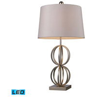 Bowery + Grove 50399-SLL Amigo Ave 29 inch 13.5 watt Silver Leaf Table Lamp Portable Light in LED