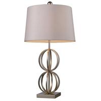 Bowery + Grove 53421-SL Amigo Ave 29 inch 150 watt Silver Leaf Table Lamp Portable Light in Incandescent