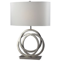 Polished Nickel Metal Bowery Table Lamps