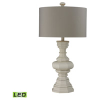 Bowery + Grove 50973-PPL Southgate 31 inch 9.5 watt Parisian Plaster Table Lamp Portable Light in LED