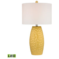 Bowery + Grove 50676-SYL Gorey 27 inch 9.5 watt Sunshine Yellow Table Lamp Portable Light in LED