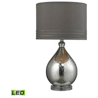 Bowery + Grove 50975-MGL McAllen 24 inch 9.5 watt Mercury Glass Table Lamp Portable Light in LED
