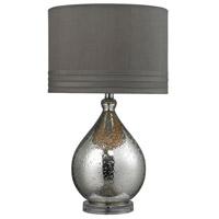 Bowery + Grove 50933-MG McAllen 24 inch 100 watt Mercury Glass Table Lamp Portable Light in Incandescent