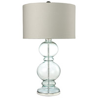 Bowery + Grove 54429-CL Gordonville 32 inch 150 watt Clear Light Blue/Polished Chrome Table Lamp Portable Light in Incandescent 3-Way