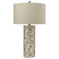Bowery + Grove 54448-S Goree 29 inch 150 watt Shell Table Lamp Portable Light in Incandescent