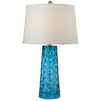 Bowery + Grove 54472-B Altura Ave 27 inch 150 watt Blue Table Lamp Portable Light in Incandescent 3-Way