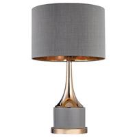 Bowery + Grove 54720-G Sesto San Giovanni 19 inch 100 watt Gold/Grey Table Lamp Portable Light in Incandescent