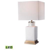 Bowery + Grove 54692-GWL Alamo St 21 inch 9.5 watt Gloss White/Gold Table Lamp Portable Light in LED 3-Way
