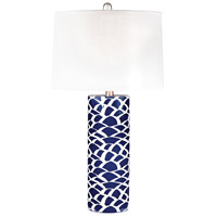 Bowery + Grove 50980-NB Allure 28 inch 100 watt Navy Blue and White Table Lamp Portable Light in Incandescent