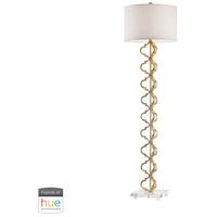 Bowery + Grove 54553-GLL Goodlett 62 inch 60 watt Gold Leaf Floor Lamp Portable Light in Hue LED Bridge Philips Friends of Hue