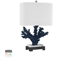 Bowery + Grove 50059-BBL Quill 26 inch 60 watt Black/Navy Blue Table Lamp Portable Light in Hue LED Bridge Philips Friends of Hue