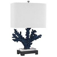 Bowery + Grove 54491-BB Quill 26 inch 150 watt Black/Navy Blue Table Lamp Portable Light in Incandescent 3-Way