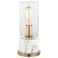 Bowery + Grove 54508-CF Adina Dr 13 inch 40 watt Clear/White Faux Marble Table Lamp Portable Light