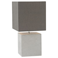 Bowery + Grove 54439-PC Alief 15 inch 40 watt Polished Concrete Table Lamp Portable Light