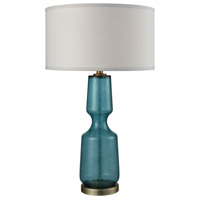 Bowery + Grove 51466-TW Giddings 29 inch Teal and Weathered Antique Brass Table Lamp Portable Light