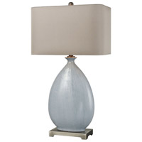 Bowery + Grove 54425-LB Armour Ave 32 inch 150 watt Light Blue Crackle Ceramic/Pewter Table Lamp Portable Light