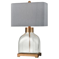 Bowery + Grove 54458-CGC Thierry 25 inch 100 watt Clear Glass/Brushed Antique Gold Table Lamp Portable Light