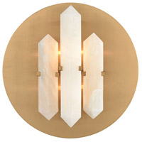 Bowery + Grove 54573-WB Julian 2 Light 14 inch White/Aged Brass Sconce Wall Light