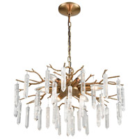 Bowery + Grove 54640-CB Charleston 6 Light 22 inch Coffee Bronze Chandelier Ceiling Light
