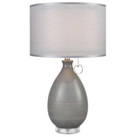Bowery + Grove 54476-GGCA Gilday Dr 26 inch 150 watt Grey Glaze/Clear Acrylic Table Lamp Portable Light
