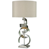 Bowery + Grove 54710-ASL Whistler 29 inch 150 watt Antique Silver/Polished Nickel Table Lamp Portable Light