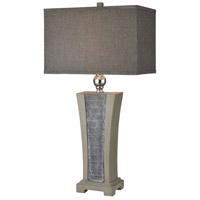 Bowery + Grove 54398-GS Barletta 30 inch 150 watt Grey Slate/Polished Concrete/Brushed Steel Table Lamp Portable Light