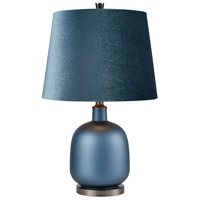 Bowery + Grove 54399-MP Burkeville 24 inch 150 watt Matte Peacock Blue/Matte Gun Metal Table Lamp Portable Light Round
