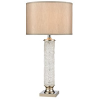 Clear and Nickel Metal Table Lamps
