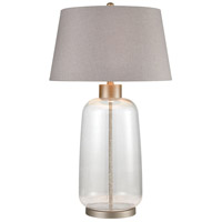 Bowery + Grove 50082-CBCB Shailee 33 inch 150 watt Clear Bubble Glass/Pewter Table Lamp Portable Light