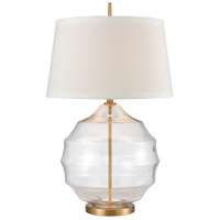 Bowery + Grove 54446-CBC Almaden Ct 33 inch 150 watt Clear/Matte Brushed Gold Table Lamp Portable Light