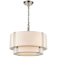 Bowery + Grove 54740-WN Chichester 4 Light 19 inch White/Polished Nickel Chandelier Ceiling Light