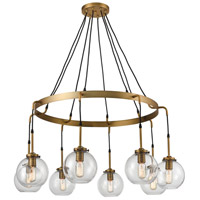 Bowery + Grove 54633-AB Engle 8 Light 41 inch Aged Brass Chandelier Ceiling Light Large