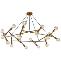 Bowery + Grove 54634-AB Skerries 20 Light 54 inch Antique Brass Chandelier Ceiling Light