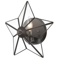 Bowery + Grove 54565-ORC Bells 1 Light 12 inch Oil Rubbed Bronze/Clear Sconce Wall Light, Large