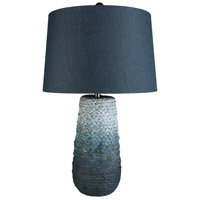 Bowery + Grove 54108-SB Atwater Ave 27 inch 100 watt Sky Blue Table Lamp Portable Light