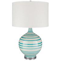 Bowery + Grove 54158-A Aguilares 26 inch 100 watt Aqua Table Lamp Portable Light