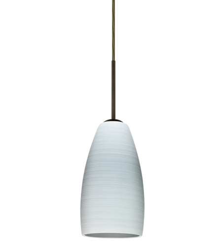 Chrissy 1 Light Bronze Pendant Ceiling In Chalk Gl