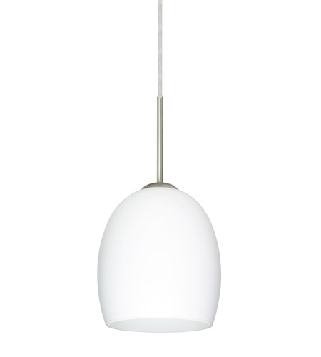 Satin Nickel Glass Lucia Pendants