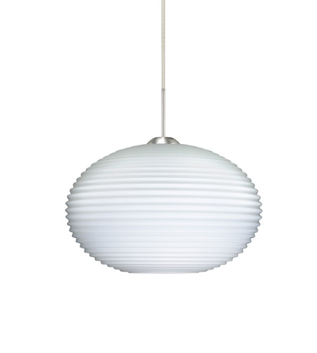 Besa lighting 1jt 491307 led sn pape led satin nickel pendant besa lighting 1jt 491307 led sn pape led satin nickel pendant ceiling light in opal ribbed glass aloadofball Choice Image