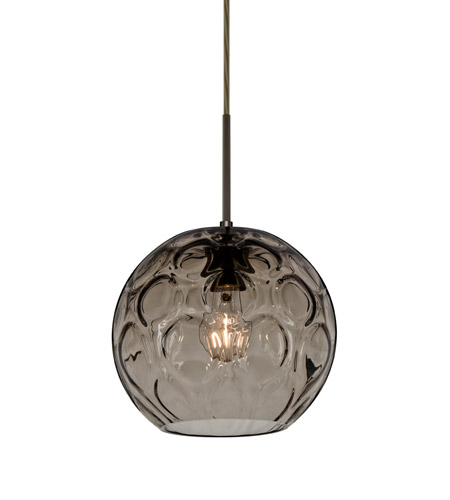 Besa Lighting 1jt Bomysm Br Ay 1 Light Bronze Pendant Ceiling In Smoke Spirit Gl