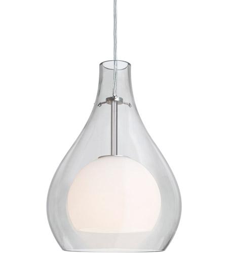 Besa Lighting 1jt Elle11cl Sn Elle 1 Light Satin Nickel Pendant Ceiling