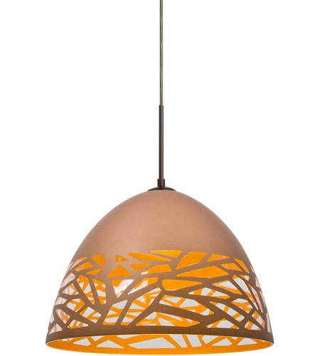 Besa Lighting 1jt Kievcp Led Br Kiev Bronze Cord Pendant Ceiling Light In Copper