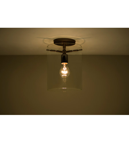 Besa Lighting 1km C00607 Br Ni Pahu 1 Light 8 Inch Bronze Semi Flush Mount Ceiling In Incandescent Transpa Amethyst Gl