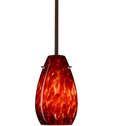 Besa Lighting 1tt 412641 Led Br Pera 9 Bronze Stem Pendant Ceiling Light