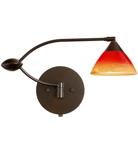 Besa Lighting 1wu 1743sl Br Domi 20 Inch 50 Watt Bronze Swing Arm Sconce Wall Light