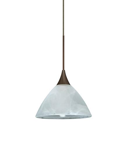 Besa Lighting 1xt 174352 Br Domi 1 Light Bronze Pendant Ceiling In Marble Gl Halogen