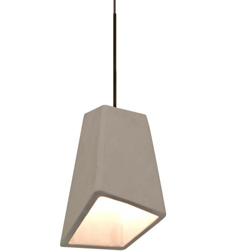 Besa Lighting 1xt Skiptn Led Br Skip Bronze Cord Pendant Ceiling Light In Tan Concrete